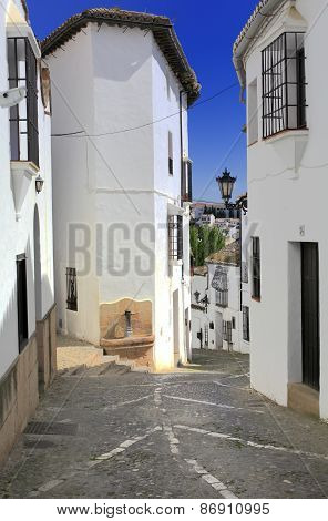 Street in old town, Ronda, Andalusia, Spain
