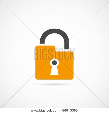padlock design symbol flat icon