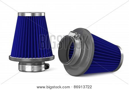 Blue Air Filter For Car
