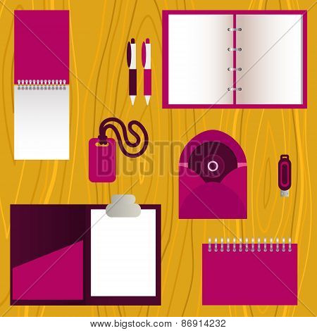Set of mock-up corporate identity objects