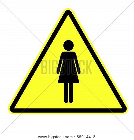 Woman  attention sign