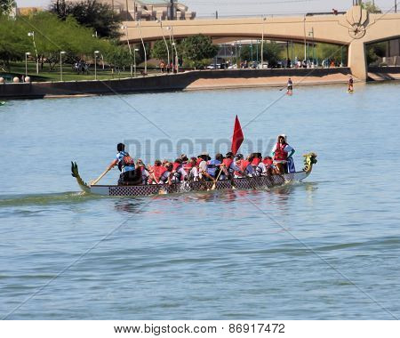 Dragon Boat Festival on Tempe Town Lake, Arizona