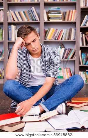Tired Of Studying.