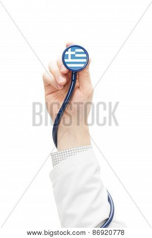 Stethoscope With National Flag Series - Greece