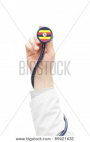 Stethoscope With National Flag Series - Uganda