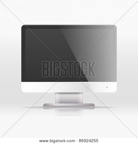Modern lcd monitor with icon interface