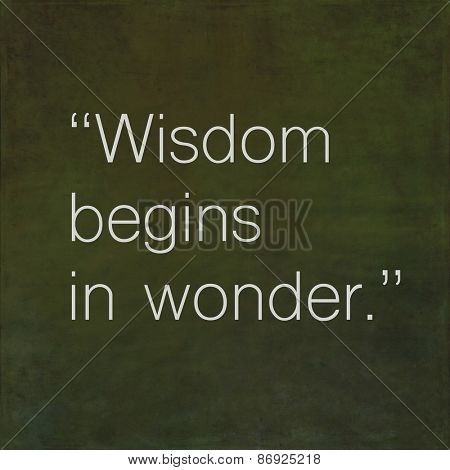 Inspirational quote by ancient philosopher Socrates on earthy background