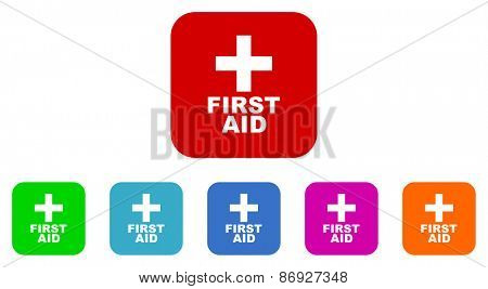 first aid vector icons set
