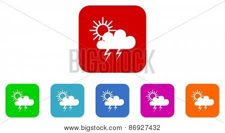 storm vector icons set