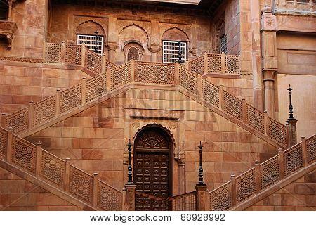 Symmetrical Stone Staircase