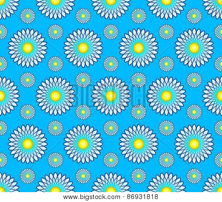 Vector abstract seamless pattern background with e flowers