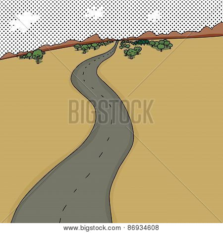 Road Through Desert