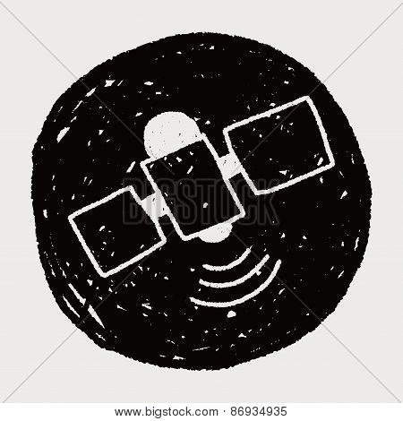 Satellite Doodle Drawing