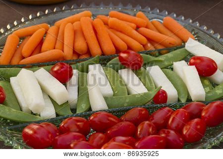 Vegetables Served As Horderves Before Dinner
