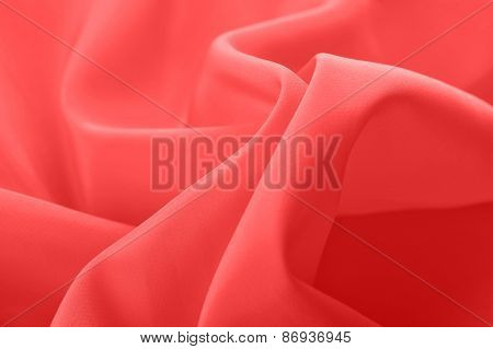 Red Fabric Ripple Background