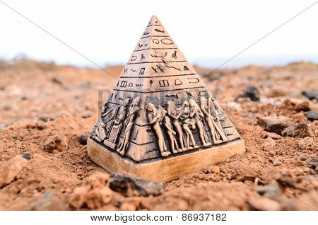 Egyptian Pyramid Model Miniature