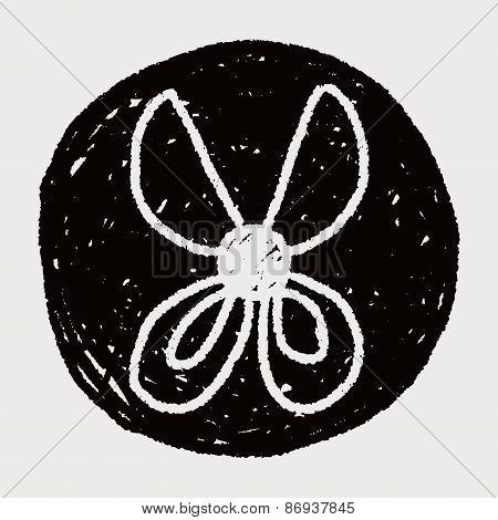 Scissors Doodle Drawing