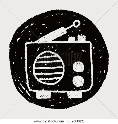 Radio Doodle Drawing