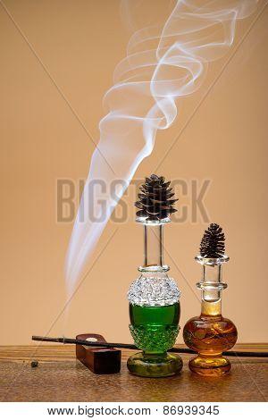Perfumes and smoke