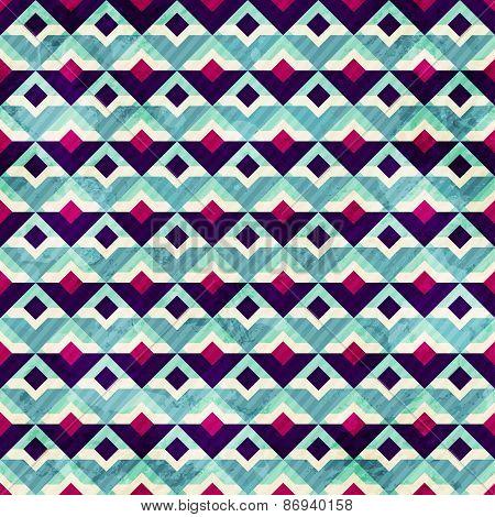 Grunge Mosaic Seamless Pattern