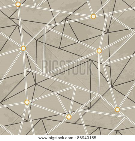 Graffiti Maze Seamless Pattern