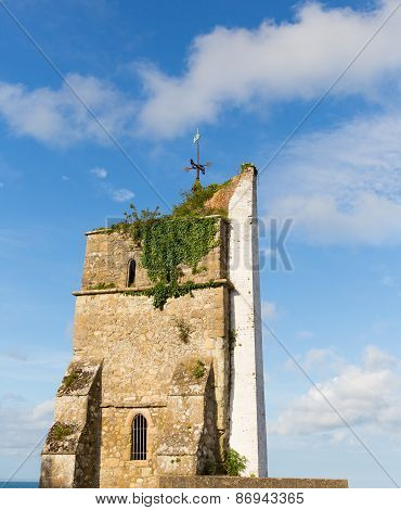 St. Helen's old church tower Isle of Wight 13th century structure