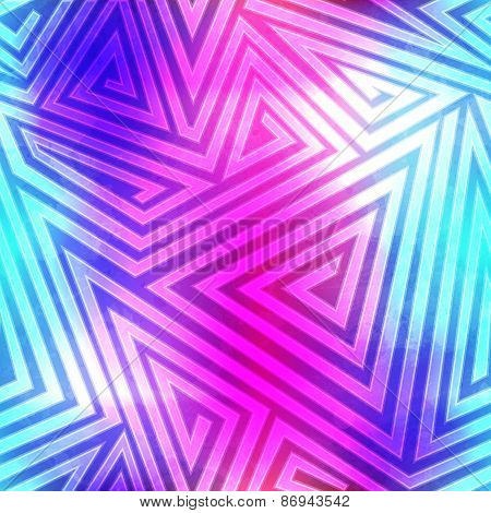 Spectrum Labyrinth Seamless Pattern