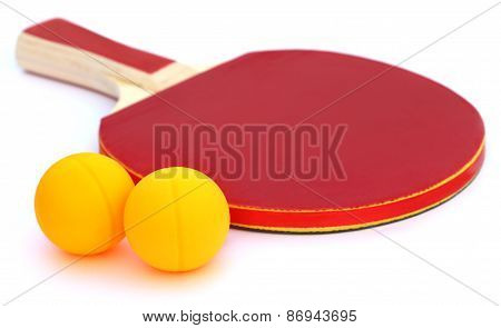 Table Tennis Ball With Bat