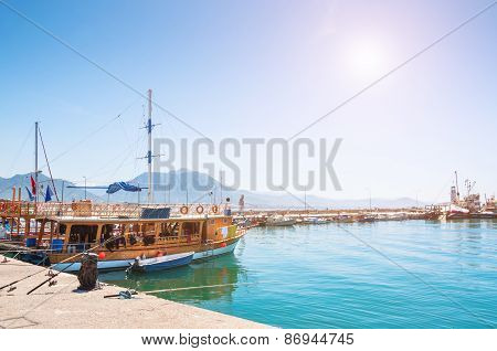 Ships In Port Of Alanya, Turkey.
