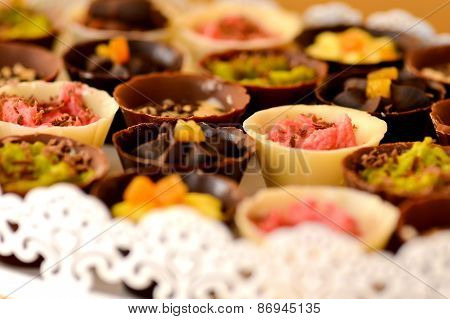 Chocolate Cups Filled With Cream