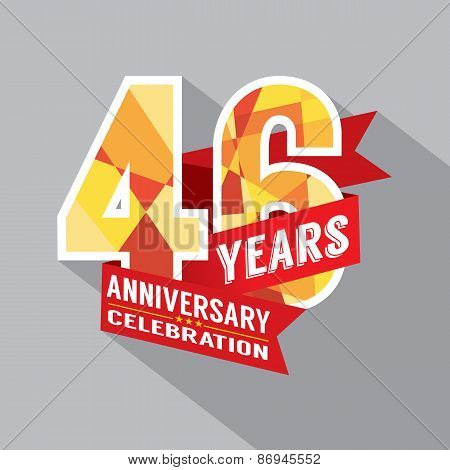 46Th Years Anniversary Celebration Design.