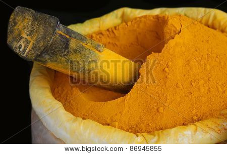Ground Turmeric In Grocery Shop