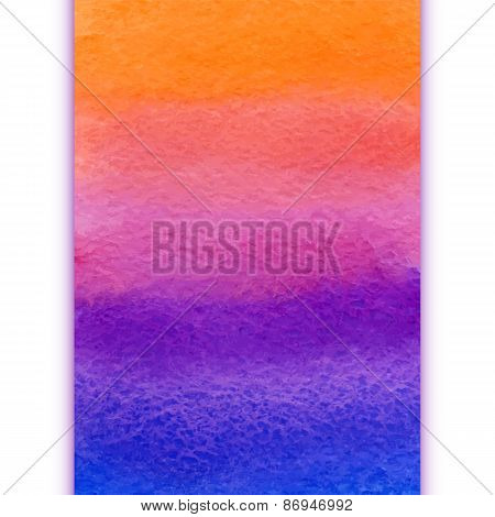 vector vertical watercolor rainbow gradient hand drawn background