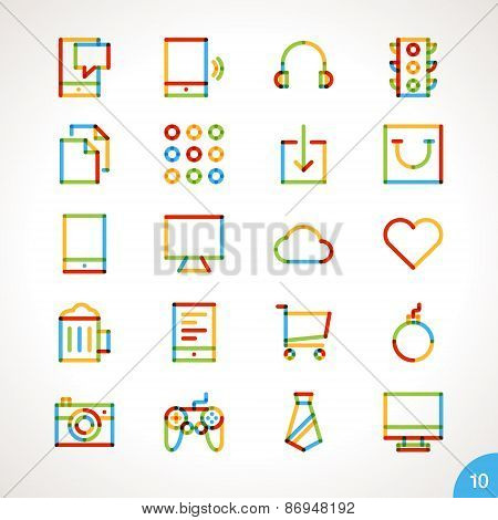 Vector Highlighter Line Icons for any purpose Set 10