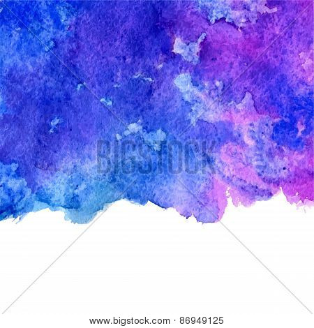 vector watercolor blue and violet grunge background