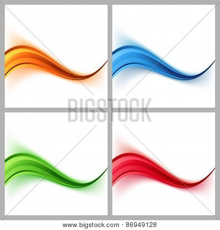 Wave Border Colorful Certificate Cards Collection