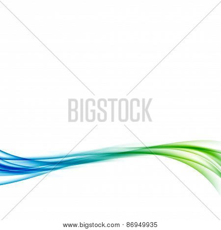 Smooth Abstract Bright Fresh Swoosh Futuristic Wave