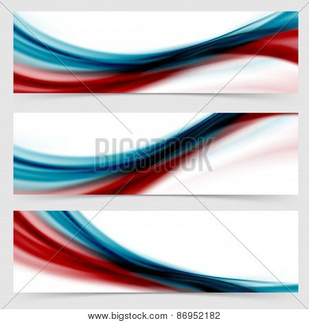Smooth Swoosh Header Footer Web Abstract Collection