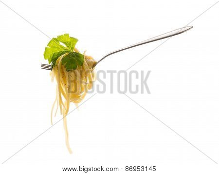 Pasta With Celery Leaves