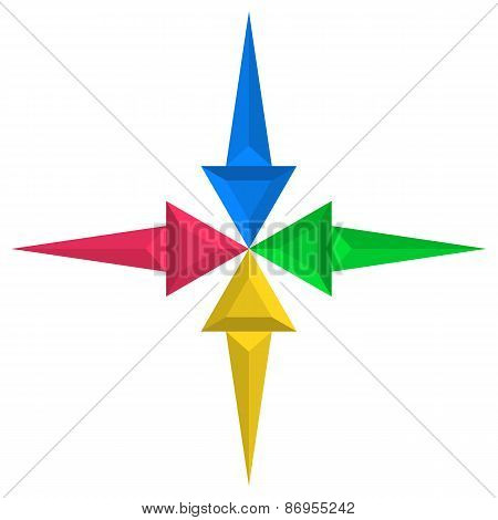 Mosaic Colorful Arrows