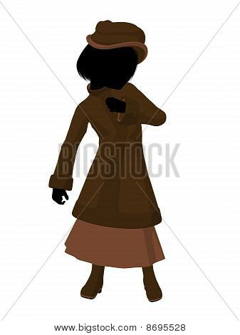 Victorian Girl Illustration Silhouette