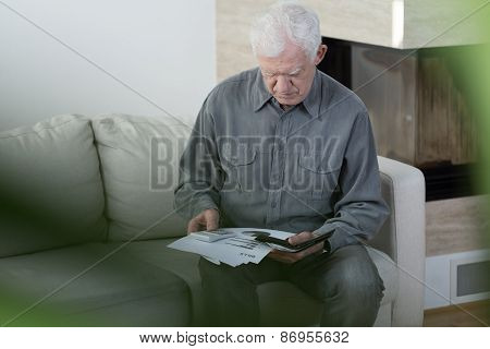 Elder Man In Bankrupt