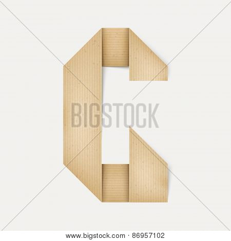 3D Elegant Folded Paper Letter G
