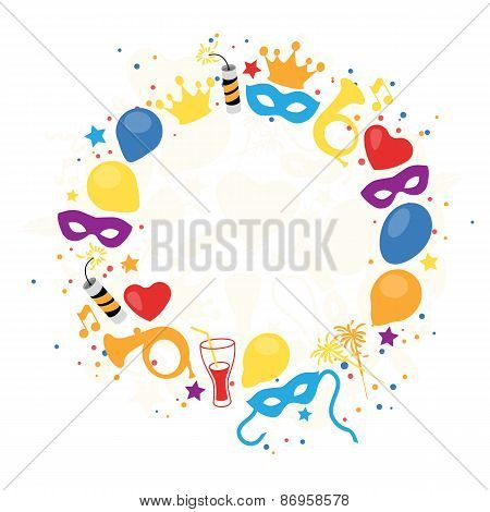 Carnival, Festival, Party, Birthday Decoration, Vector
