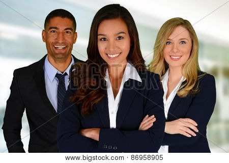 Business Team of Men and Women at Office
