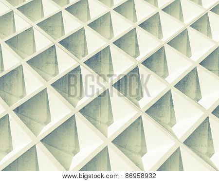 Abstract Architecture Background. White Square 3D Pattern