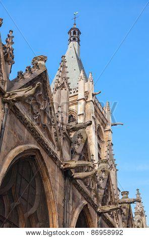 Medieval Church Of Saint-severin, Paris, France
