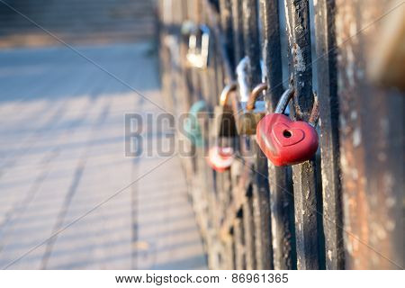 Love Lock On The Bridge