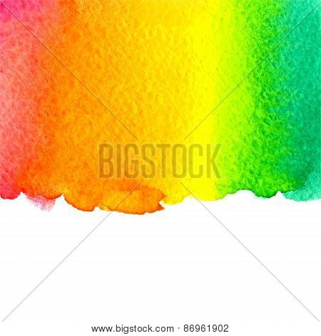 vector watercolor colorful rainbow background withcopy space