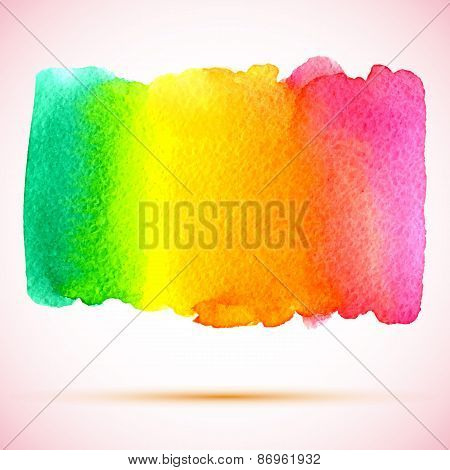 vector watercolor colorful rainbow banner